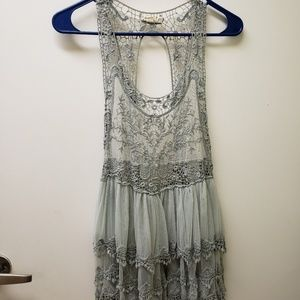 Tops - Bohemian style lace tank top